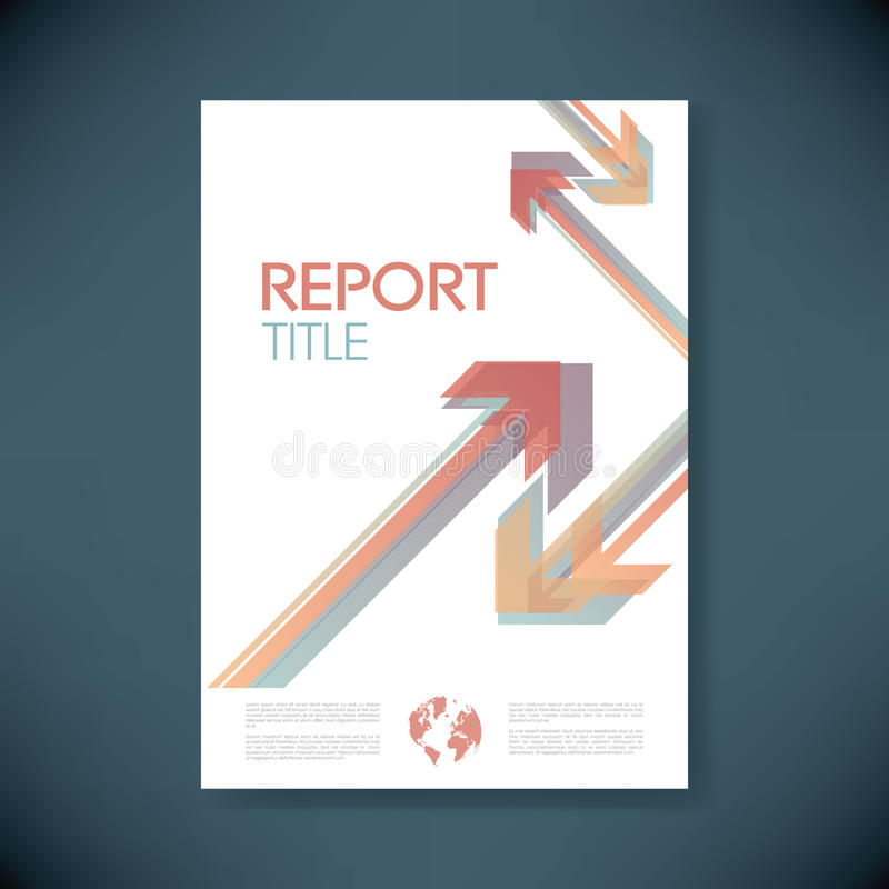 小册子或年终报告盖子有摘要的 库存例证
