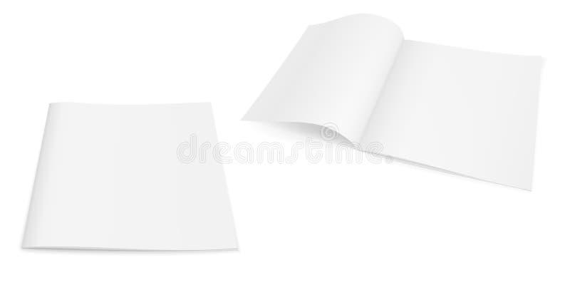 小册子杂志的现实传染媒介图象,小册子,笔记本 库存例证