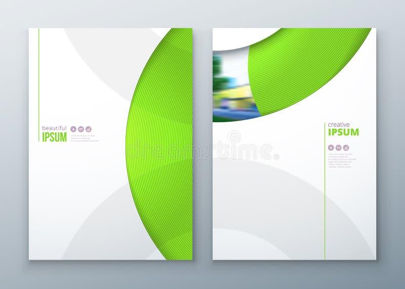 小册子模板布局设计 公司业务年终报告,编目,杂志,飞行物大模型 创造性现代 皇族释放例证