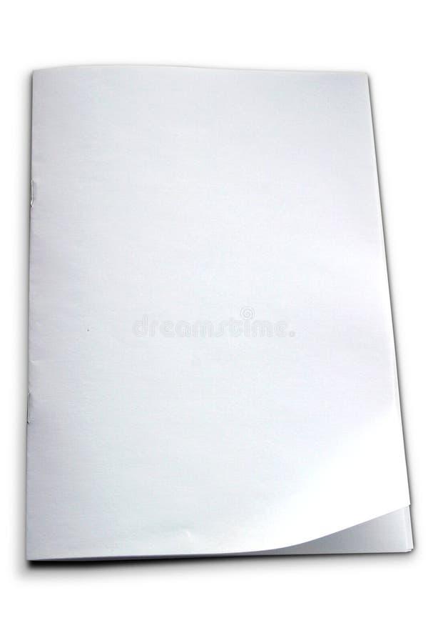 小册子模板白色 免版税库存图片