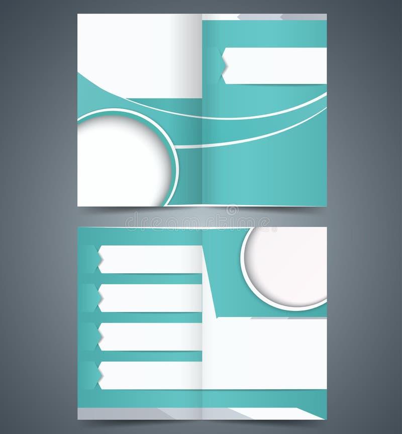 小册子模板设计,布局企业小册子 皇族释放例证