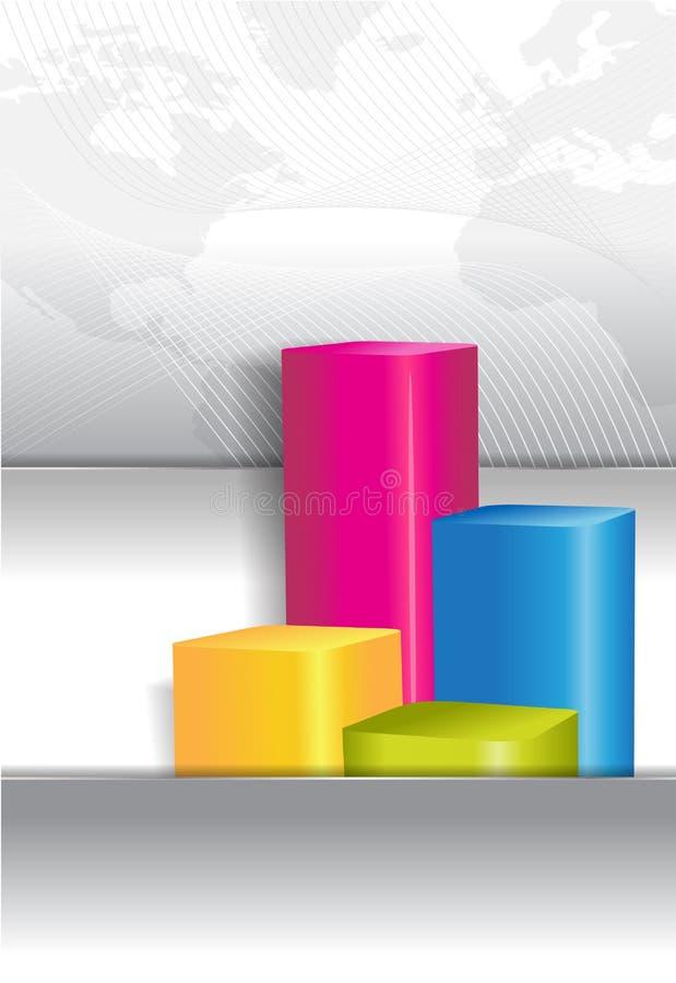 小册子盖子的经济背景有图表的 库存例证