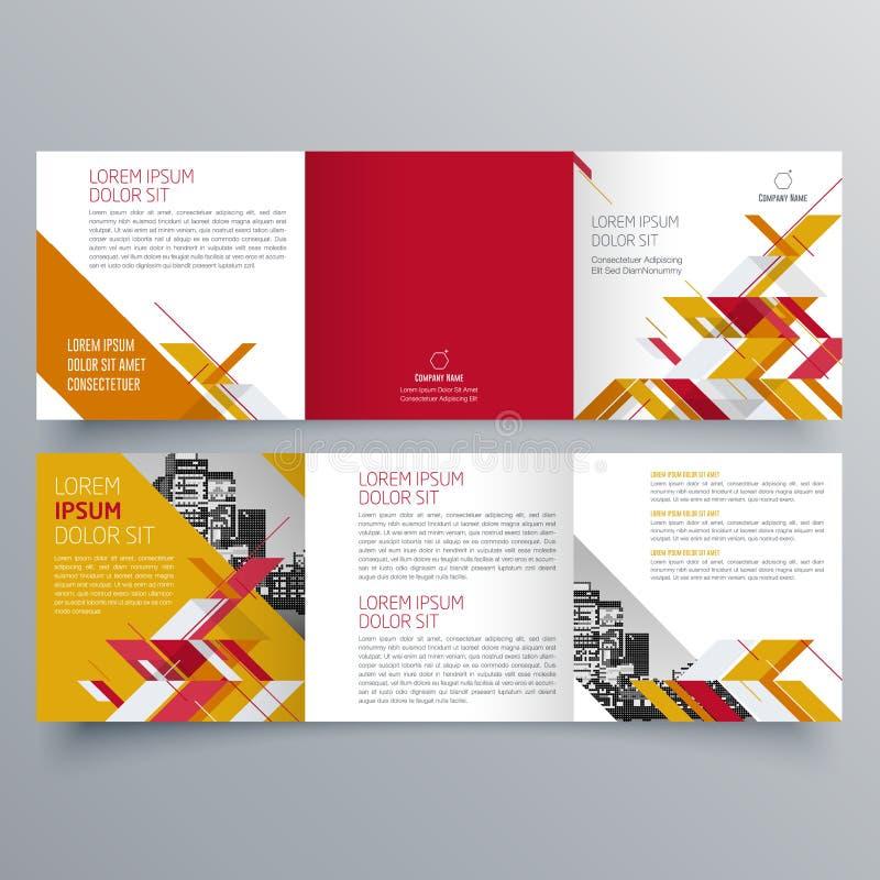 小册子设计,小册子模板,创造性三部合成,趋向小册子 皇族释放例证