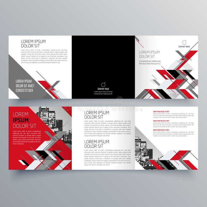 小册子设计,小册子模板,创造性三部合成,趋向小册子 库存例证