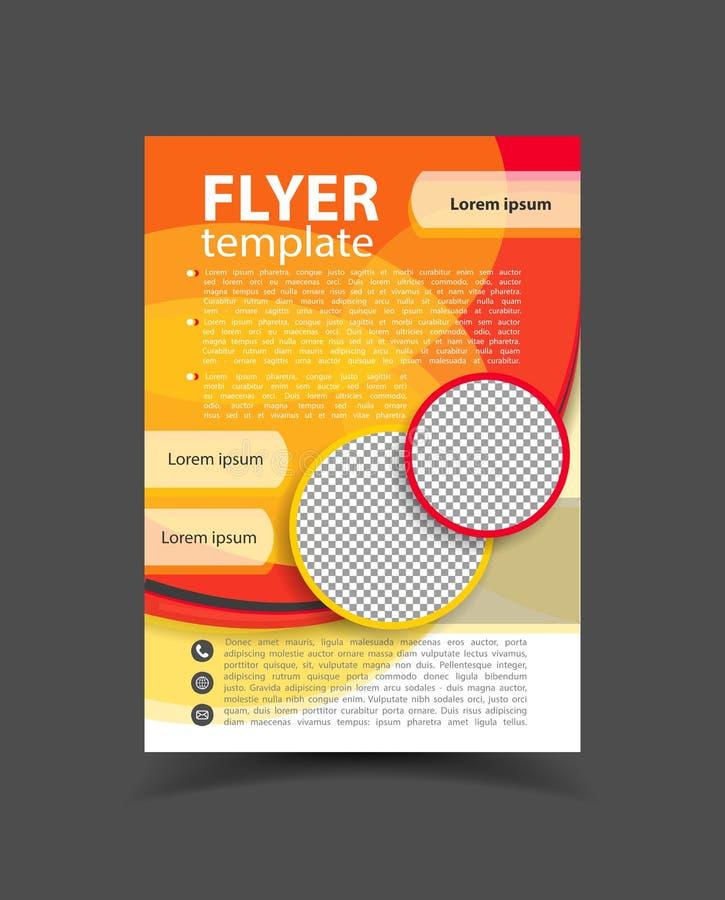 小册子设计 飞行物模板 事务的编辑可能的A4海报 库存例证