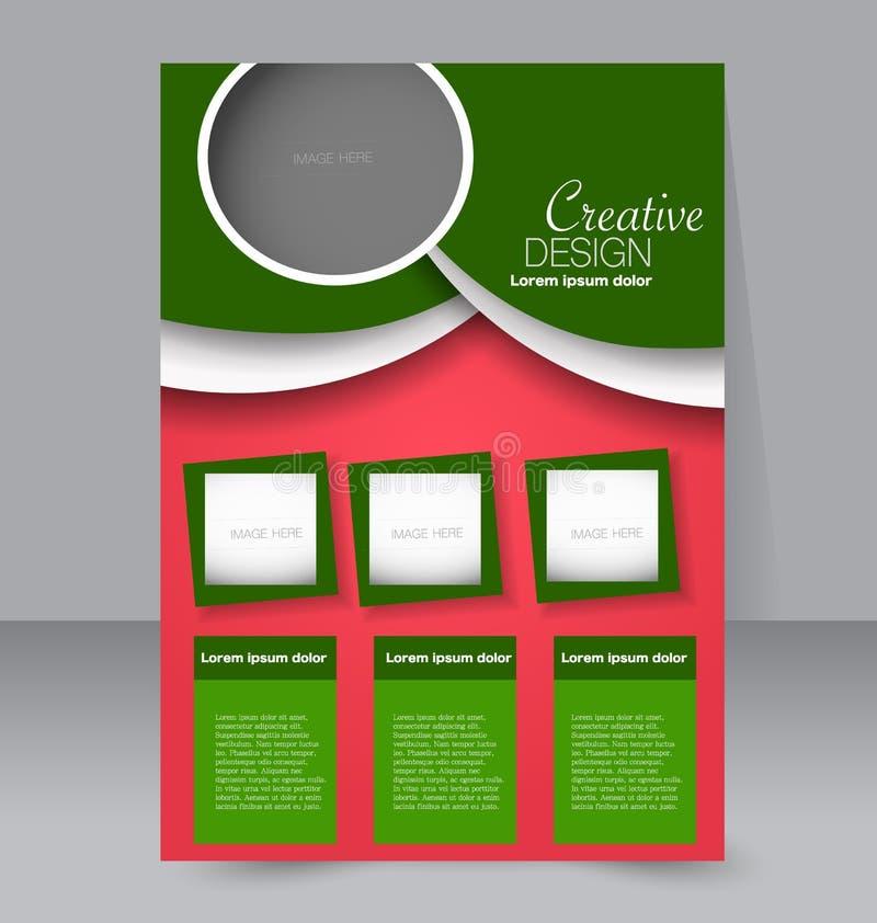 小册子设计 飞行物模板 编辑可能的A4海报 库存例证