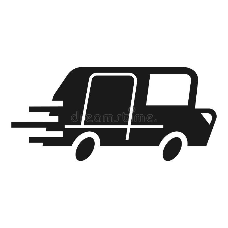 小包卡车交付象,简单的样式 皇族释放例证