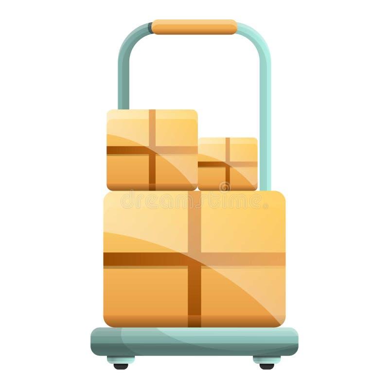 小包箱子推车象,动画片样式 皇族释放例证