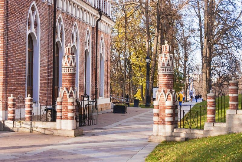 小半圆宫殿,状态历史,建筑,艺术和风景博物馆储备的Tsaritsyno 在莫斯科 免版税库存图片
