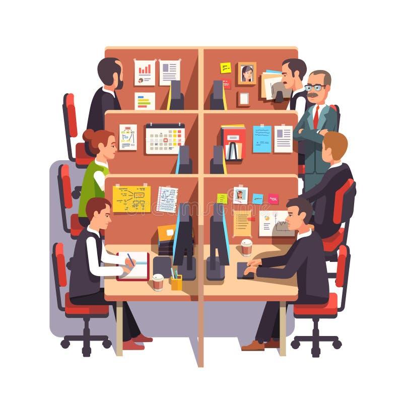 小卧室与雇员的办公室工作区 皇族释放例证
