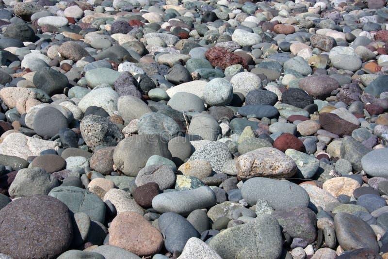 小卵石岩石舍入了 免版税图库摄影
