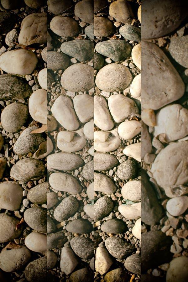 小卵石的好的背景图象,圆的岩石纹理 免版税库存图片