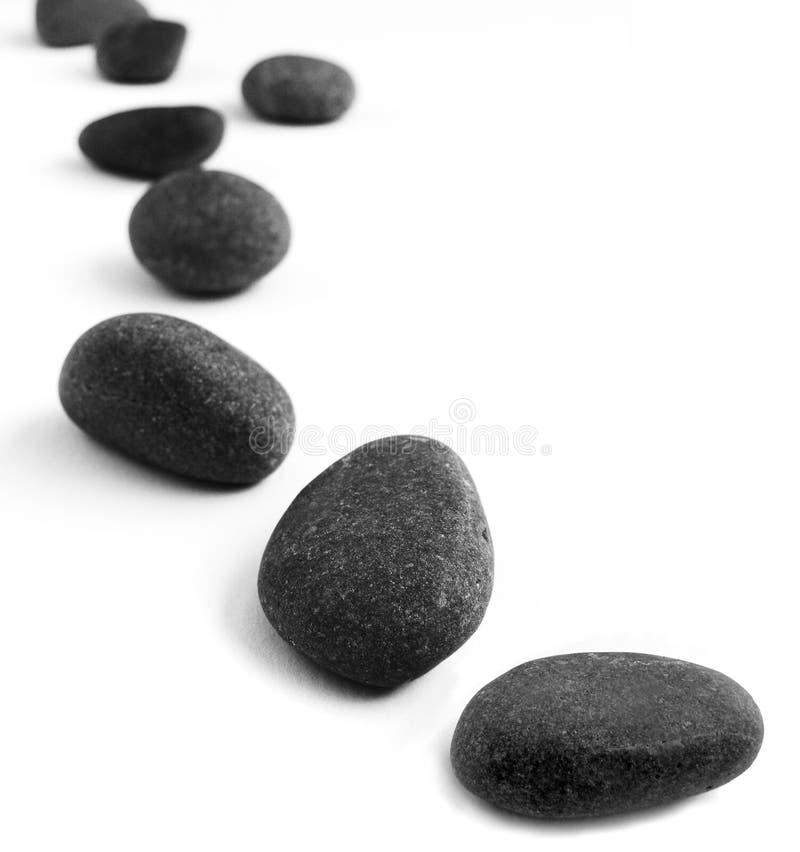 小卵石空白的垫脚石 免版税库存照片
