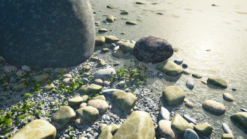 小卵石 向量例证
