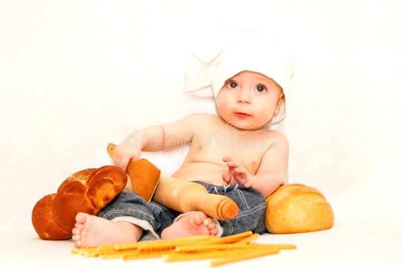 小厨师婴孩 库存照片