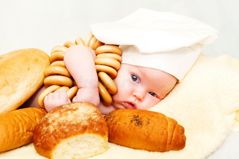 小厨师婴孩 免版税库存照片