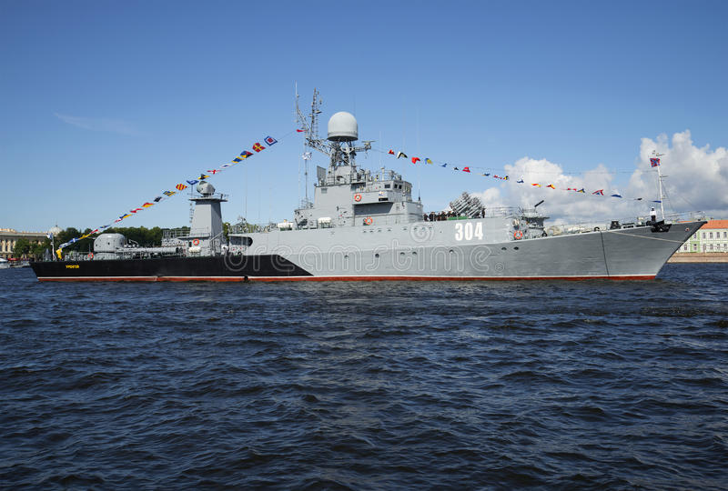 小反潜艇船 库存照片