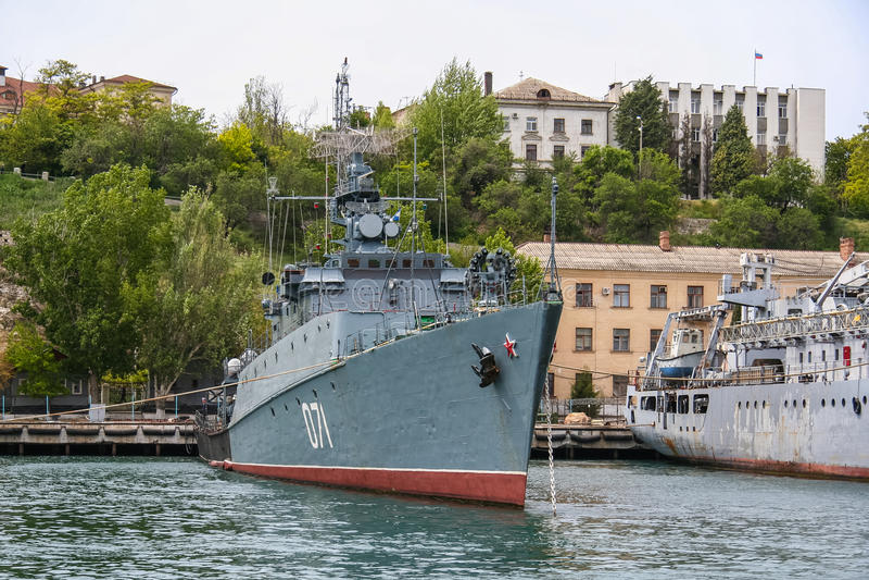 小反潜艇船 免版税库存照片