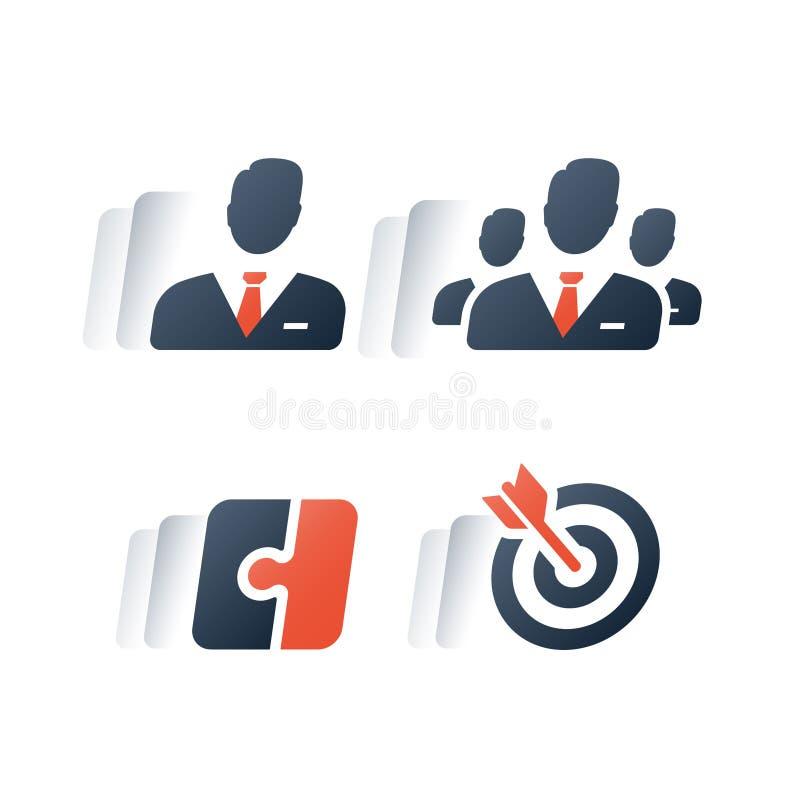 小和大笔生意解答,公司服务,项目管理,事业资金,团队工作,拿着小组公司 库存例证
