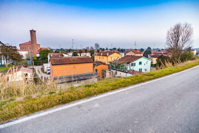 小国家村庄在意大利 免版税图库摄影