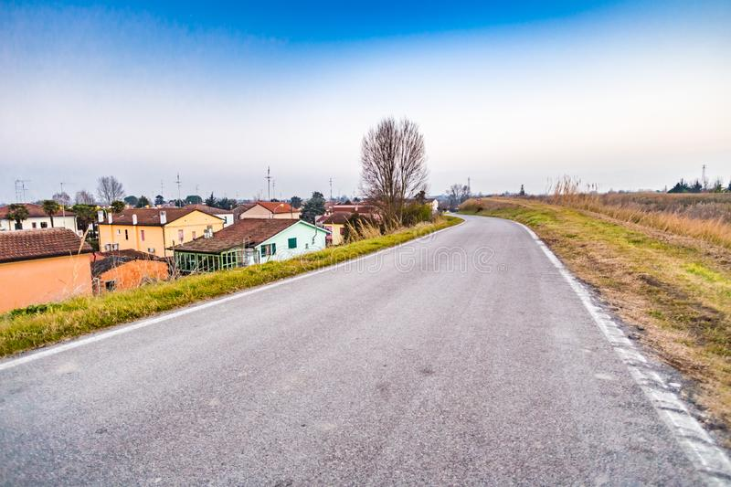 小国家村庄在意大利 库存照片