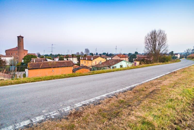 小国家村庄在意大利 免版税库存照片