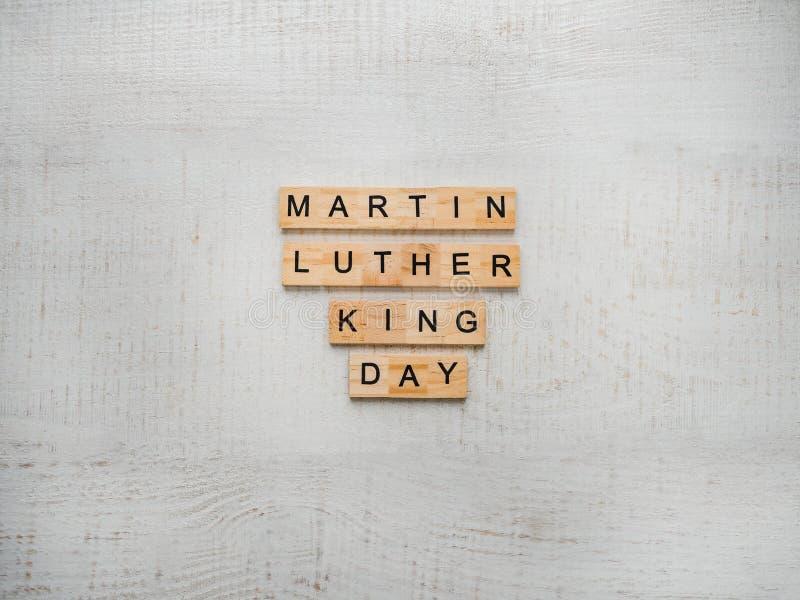 小国王luther马丁纪念品 日 2007个看板卡招呼的新年好 库存照片