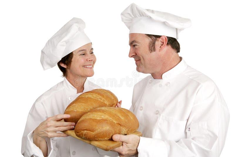 小圆面包主厨好的系列 库存图片