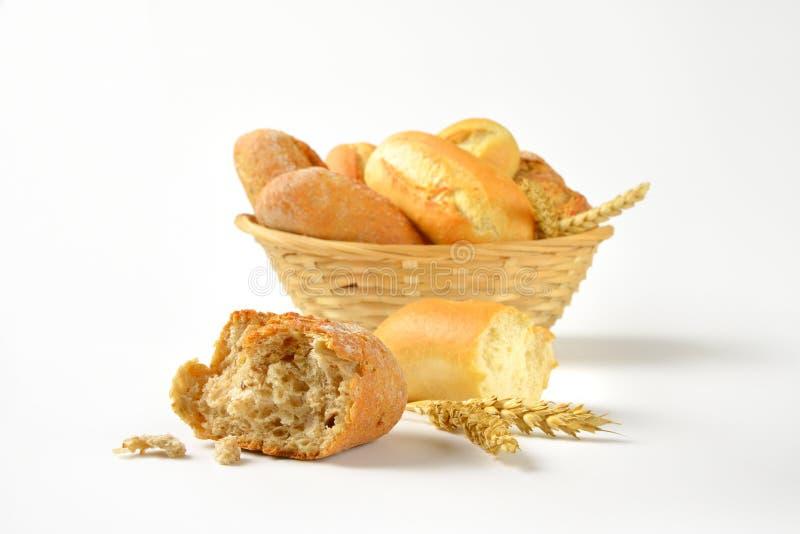 小圆面包和小圆面包 库存照片