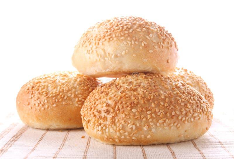小圆面包四种子芝麻 免版税库存图片