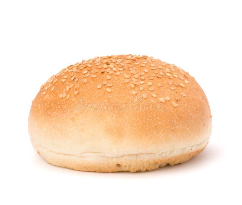 小圆面包来回三明治植入芝麻 免版税库存照片