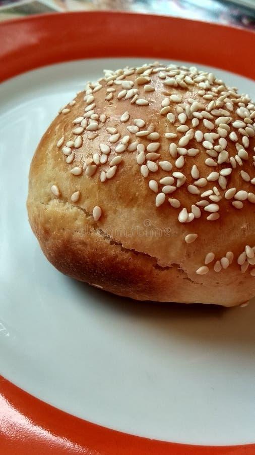 小圆面包植入芝麻 库存照片