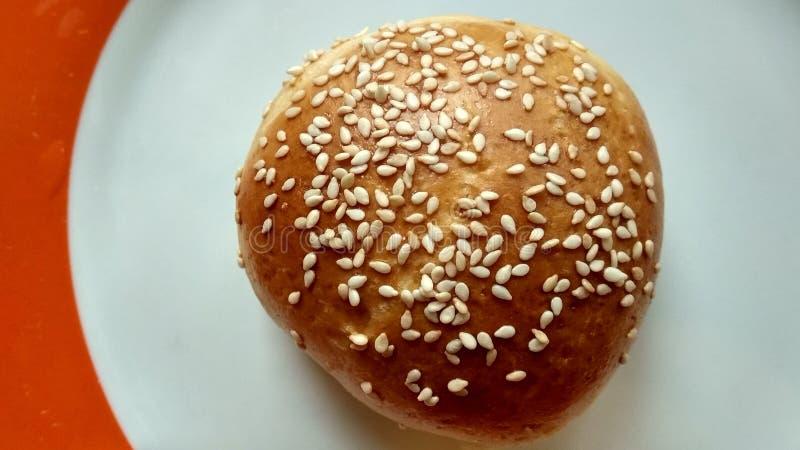 小圆面包植入芝麻 免版税图库摄影