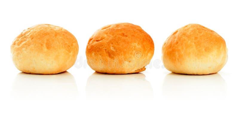 小圆面包甜点三白色 库存图片