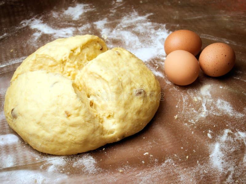 小圆面包鸡蛋 图库摄影