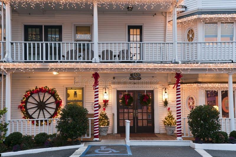 小圣诞节的旅馆 免版税图库摄影