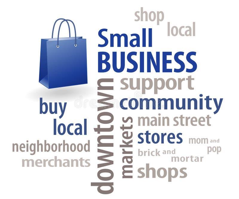 小型企业字云彩 向量例证