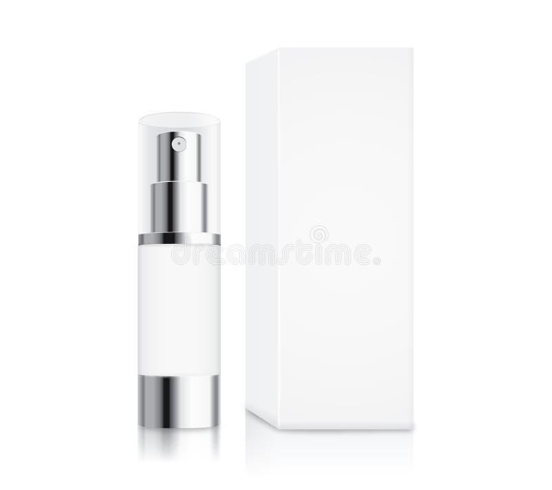 小型化妆泵浦的瓶 库存例证