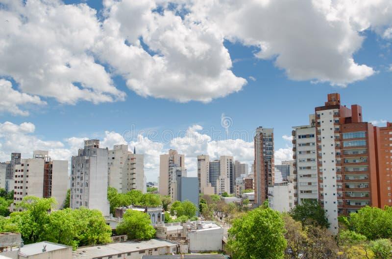 小城市看法  免版税图库摄影