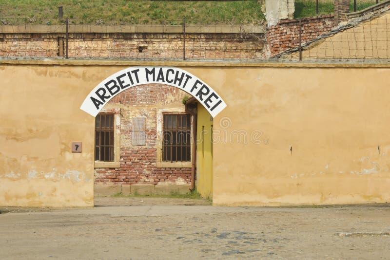 小堡垒在Terezin 库存图片