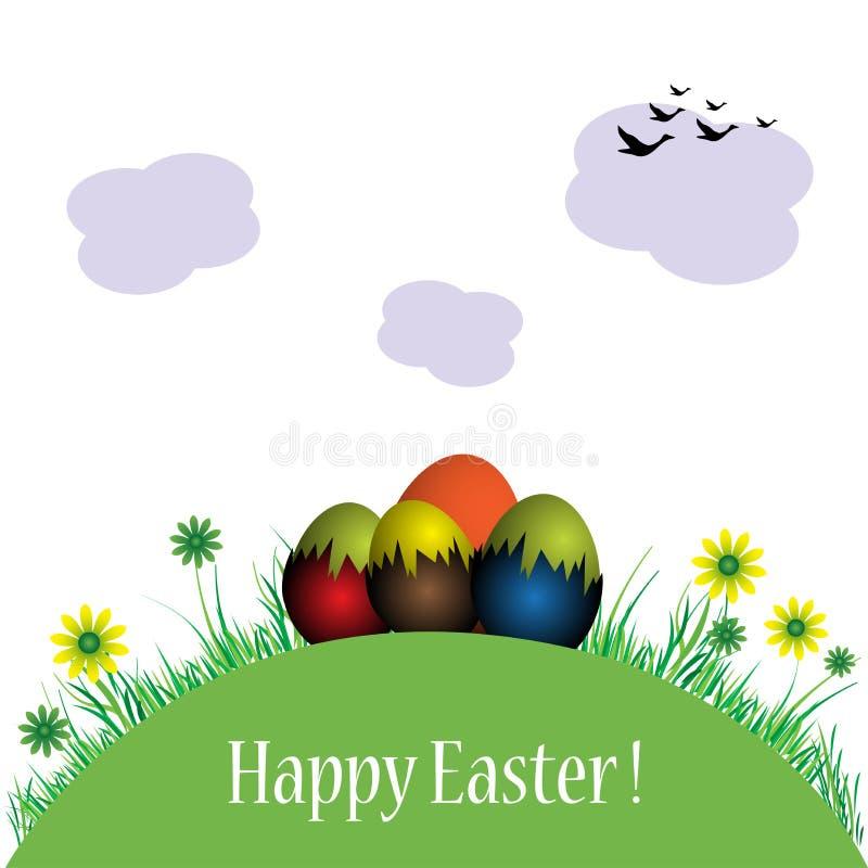 小复活节彩蛋的小山 皇族释放例证