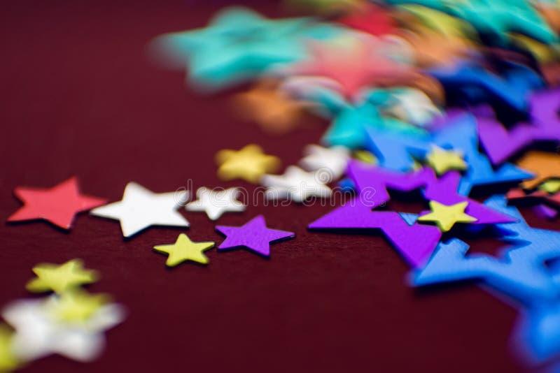 小多彩多姿的星 免版税库存图片