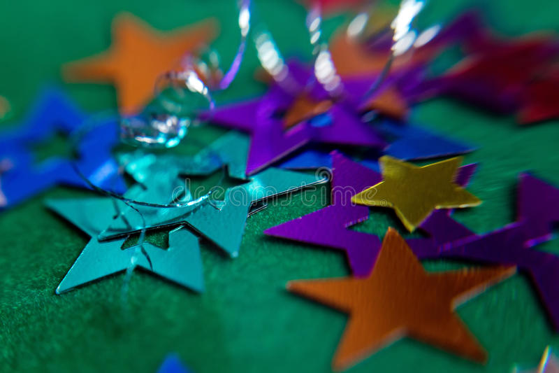 小多彩多姿的星 免版税库存照片