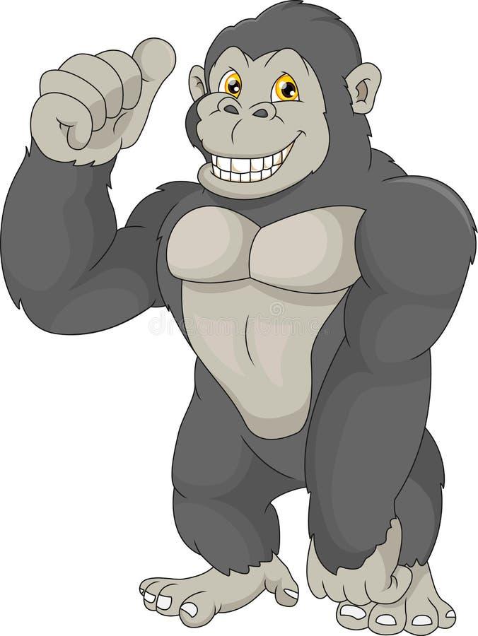 小大猩猩动画片 皇族释放例证