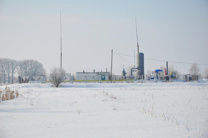 小天然气植物在西伯利亚 低天然气价格和成长在天然气发电基础设施 库存照片