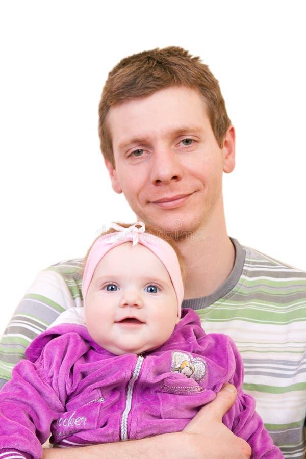 小女儿父亲 库存照片