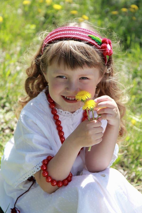 小女孩。 图库摄影
