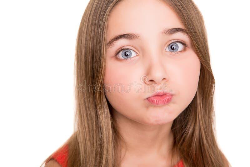 小女孩在演播室 库存图片