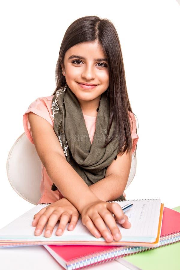小女孩学习 免版税图库摄影