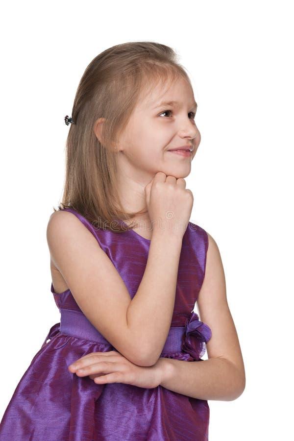 小女孩想象 图库摄影